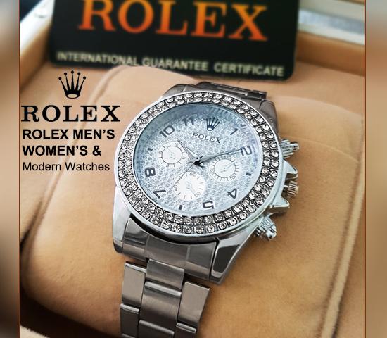 ساعت طرح ROLEX (نقره ای)