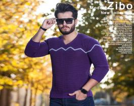 بافت مردانه مدل Zibo (بنفش)