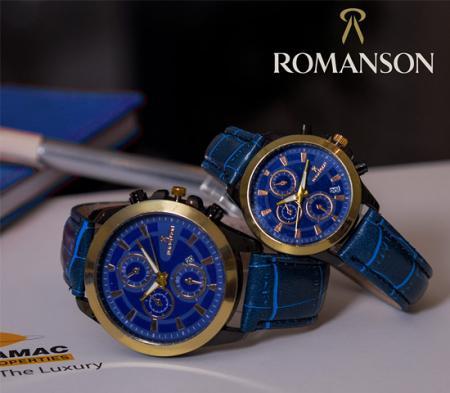 ست ساعت مچی Romanson مدل Otela Plus (آبی)