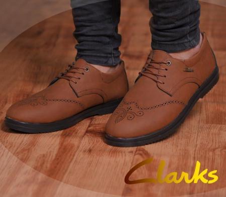 کفش مردانه مجلسی  janet ( قهوه ای )