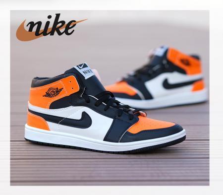 کفش ساقدار ALL STAR 2021(سفید نارنجی)