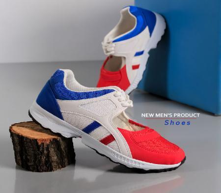 کفش مردانه مدل Tores (سفید قرمز)