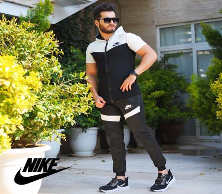 ست تیشرت وشلوار زیپ دار Nike مدل Adolpha